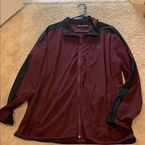 Under armor maroon black jacket